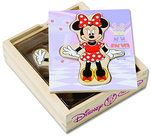 Melissa & Doug Disney Minnie Mouse Mix and Match Dress-Up Wooden Play Set (18 pcs) from Melissa & Doug