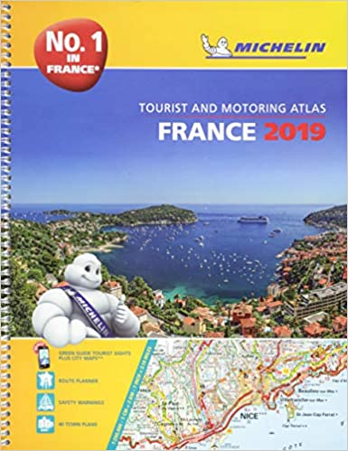 A4 Map Of France.France 2019 A4 Tourist Motoring Atlas Tourist Motoring Atlas