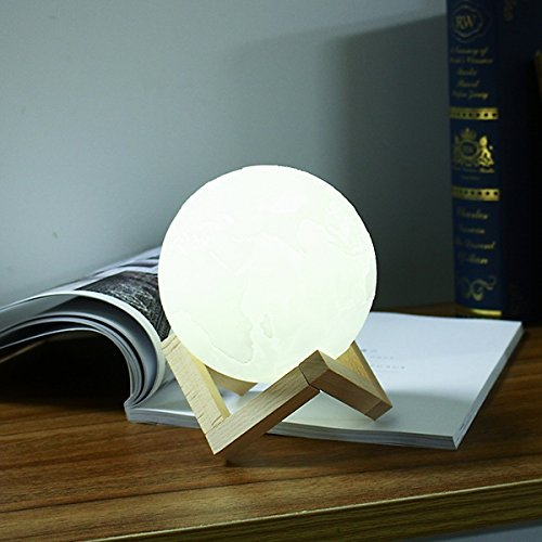 ZHENWOFC ZHENWOFC ZHENWOFC 18cm 3D Erde Lampe USB wiederaufladbare Berührungssensor Farbwechsel LED Nachtlicht Geschenk DC5V Innenlicht B07N53KWGH | Erste Qualität  499a25