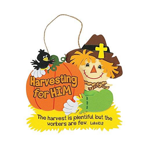 Fun Express - Harvest Inspirations Bible Verse Sign for Fall - Craft Kits - Hanging Decor Craft Kits - Sign Decoration Craft Kits - Fall - 12 -