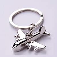 Creative Plane Keychain Metal Key Chains Mens Key Ring Chain For Motorcycle And Car Key Tags Parts Aviation Gifts