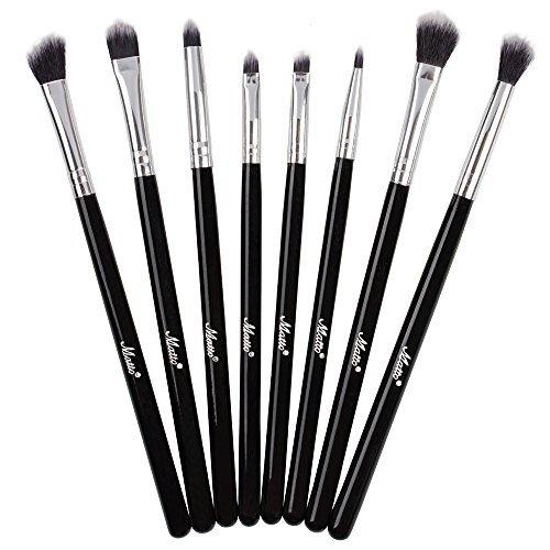 Matto Professional Makeup Eye Brush Set Eyeshadow Brushes 8-Piece(Black) ()