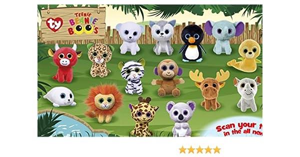 Amazon.com  Mcdonalds 2017 TEENIE BEANIE BOOS - COMPLETE SET OF 15  Toys    Games 89b606011f67