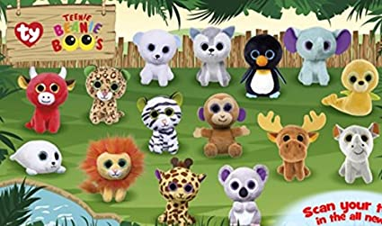 cf290e25001 Amazon.com  Mcdonalds 2017 TEENIE BEANIE BOOS - COMPLETE SET OF 15 ...