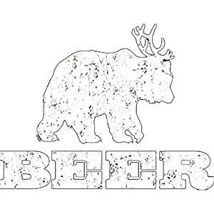 Deer + Bear = Beer Printed T-Shirt