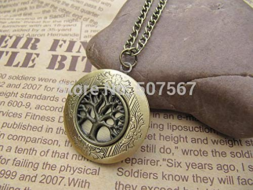 (The Tree of Life Wish Tree Locket Necklace Antique Personalized Jewelry Steampunk Unique Gift Vintage Bronze)
