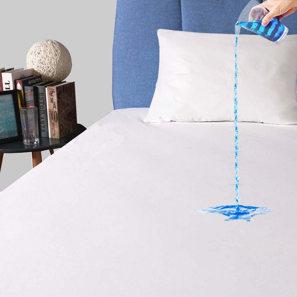 Twin Size Waterproof Mattress Protector, Premium Breathable Mattress Cover