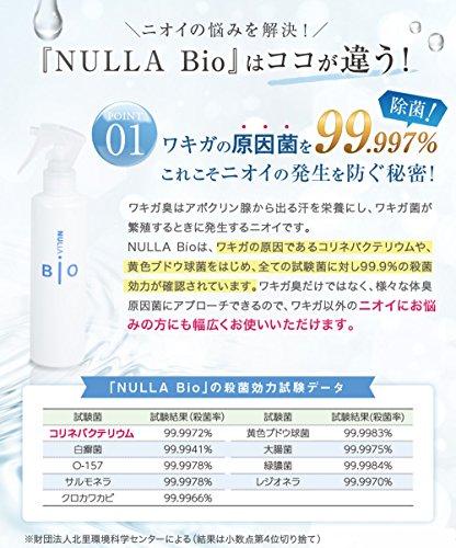 NULLA(ヌーラ) 衣類用抗菌消臭剤 ヌーラビオ スプレーヤー付200ml