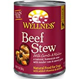 Wellness Thick & Chunky Grain Free Beef Stew Natural Wet Canned Dog Food, 12.5-Ounce Can (Pack of 12)