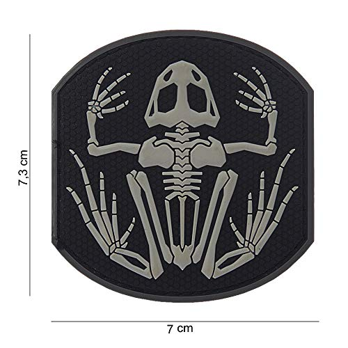Tactical Attack Skelett Frosch Frog Softair Sniper PVC Patch Logo Klett inkl gegenseite zum aufn/ähen Paintball Airsoft Abzeichen Fun Outdoor Freizeit