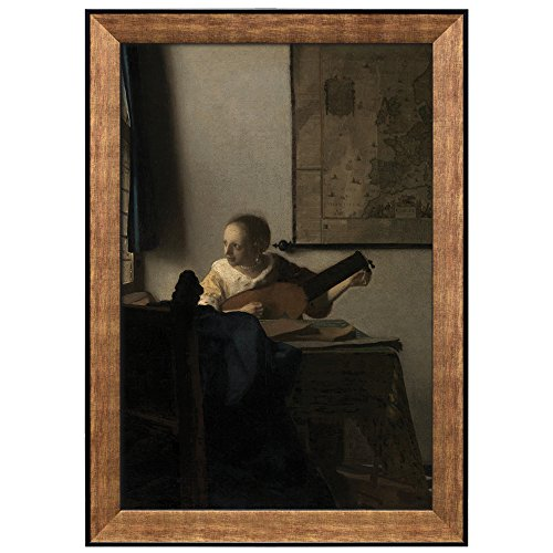 Woman with a Lute by Johannes Vermeer Framed Art