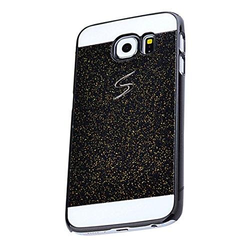 funda - SODIAL(R)1PC duro funda para Samsung Galaxy A5 funda caso protector caja de cristal Glitter telefono de la caja de luz carcasa Shinning Shell Ultraligero duro-Oro Negro