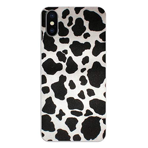 for iPod Touch iPhone 4 4S 5 5S 5C SE 6 6S 7 8 X XR XS Plus MAX Transparent TPU Shell Cover White Black Cow Symbol Pattern Print,Images 3,for iPhone XR