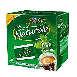 Dolcificante Ipocalorico Con Estratto Di Foglie Di Stevia Cuore Naturale 30 Bustine