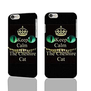 """Keep Calm and love The Cheshire Cat 3D Rough iphone Plus 6 -5.5 inches Case Skin, fashion design image custom iPhone 6 Plus - 5.5 inches , durable iphone 6 hard 3D case cover for iphone 6 (5.5""""), Case New Design By Codystore"""