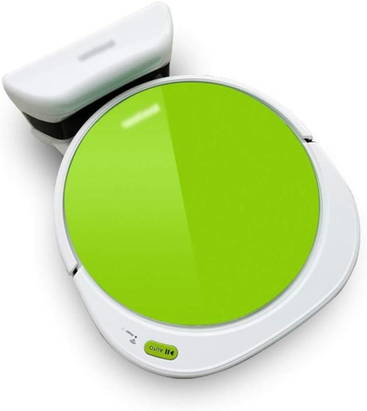 HJQFSJ Robot Aspirador Inteligente con función automática de Limpieza, Potencia de succión hasta la aspiradora Robot 1200Pa for Pelo de Animales, alfombras y Suelos Duros (Color : Green): Amazon.es: Hogar