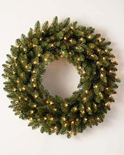 Balsam Hill Berkshire Mountain Fir Prelit Artificial Christmas Wreath, 48 Inches, Clear Lights by Balsam Hill (Image #4)