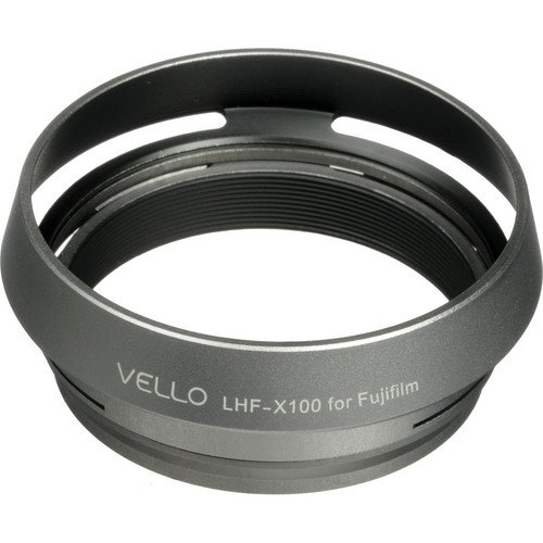 Vello LHF-X100 Dedicated Lens Hood with Adapter Ring for Fujifilm FinePix X100 Digital Camera by Vello