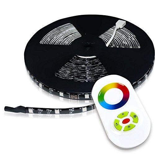 (Genssi Touch RF Radio Wireless RGB LED Strip Light Controller 32FT (10M) Strip Kit)