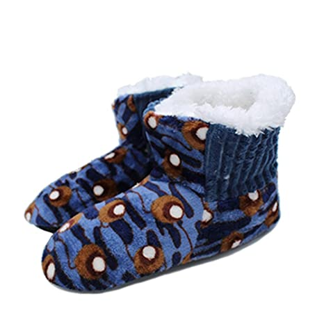 ZLULU Zapatillas de estar por casa Polka Dot Flor Calientes Zapatos De Interior Calzados Interiores De