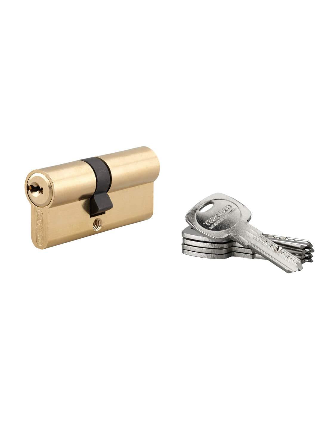 Cilindro de cerradura de cilindro Thirard Trafic 6 30 x 10 mm, 5 llaves planas reversibles