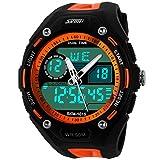 Manner Men's 5ATM Dive Waterproof Analog Digital Sport Military Multifunctional Watch