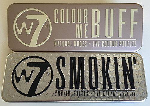W7 Eye Shadow Colour Palette Colour Me Buff Natural Nudes and Smoking' Set