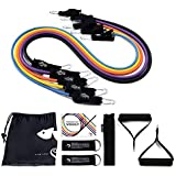 Kamileo Resistance Band Set, Resistance Bands with Handle Door Anchor Ankle Straps, for Resistance Training Physical Therapy Home Workouts (Poster Included)
