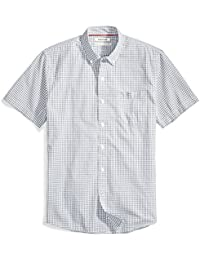 Men's Standard-Fit Short-Sleeve Two-Color Check Shirt