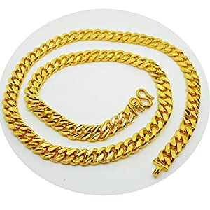 Amazon.com: Men's Chain 22K 23K 24K THAI BAHT GOLD GP