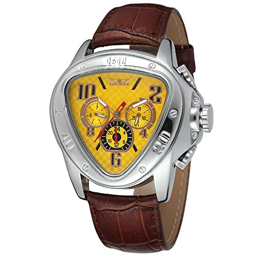FENKOO JARGAR Mechanical watches 516 Europe and the United States men's fashion casual heart-shaped three automatic mechanical watch wholesale Automatic mechanical watches ( Color : 1 )