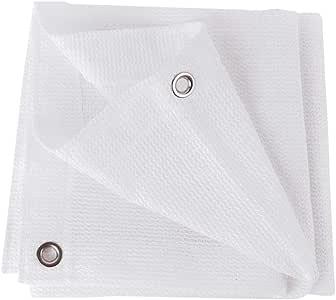 Amazon.com: YFMMM White 80% Sun Mesh Sunblock Shade Cloth ...