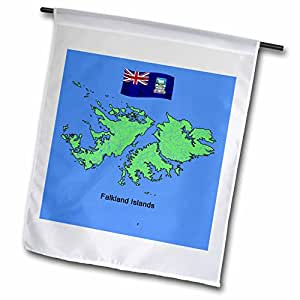 777images Flags and Maps - South America - Map and Flag of the Falkland Islands - 12 x 18 inch Garden Flag (fl_51731_1)