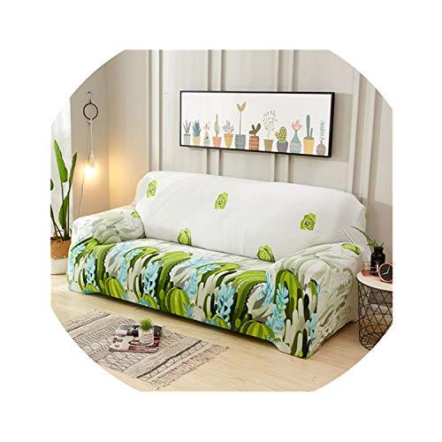 ACOMY Big Rose Elastic Sofa Cover Stretch Sectional Couch Cover Sofa Slipcovers Sofa Covers for Living Room housse canape 1/2/3/4 seat,Color 1,2-Seater 145-185cm