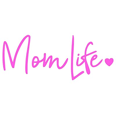 CCI Mom Life Decal Vinyl Sticker|Cars Trucks Vans Walls Laptop| Pink |7.5 x 3 in|CCI670: Automotive