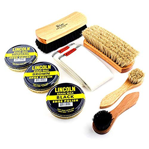Lincoln and Star Brushes and Polish Set