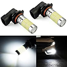 JDM ASTAR 1200 Lumens Extremely Bright 144-EX Chipsets 9006 HB4 LED Bulbs with Projector for DRL or Fog Lights, Xenon White