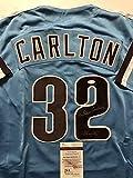 "Autographed/Signed Steve Carlton ""Lefty"" Philadelphia Phillies Retro Blue Baseball Jersey JSA COA"