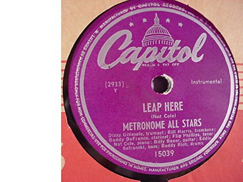 Metronome All Stars Rare Near Mint Original 10 Inch 78 rpm & Capitol Stock Sleeve - Leap Here / Metronome Riff - Capitol Records 15039 - Dizzy - DeFranco - (Mint Harris Album)