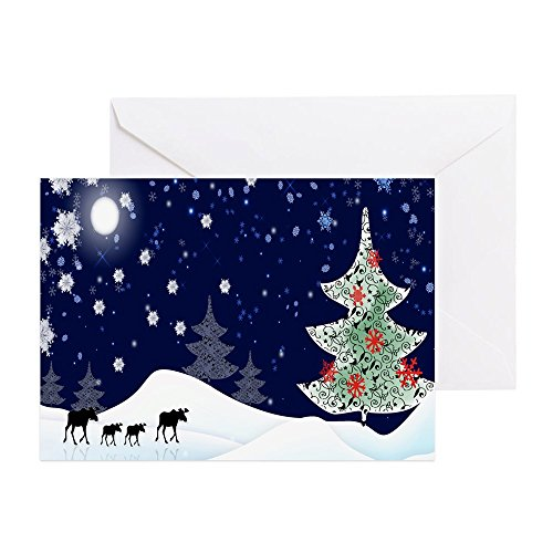 cafepress xmas moose greeting card note card birthday card blank inside