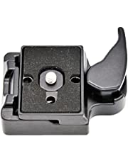 koolehaoda Camera Quick Release Adapter For Manfrotto Tripod 200PL-14 Compat Plate (black)