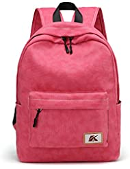 Hiigoo Satchels Canvas Shoulders Bags Casual Backpack Bag Cute Daypack For Students