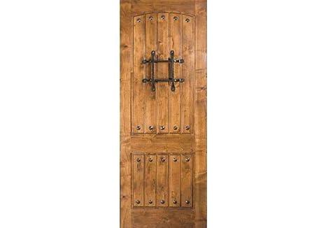 Eto Doors Rmka Exterior Rustic Knotty Alder V Grooved Arched 2
