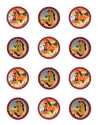 Horse Assorted Edible Cupcake Toppers - Set of (Horse Topper)