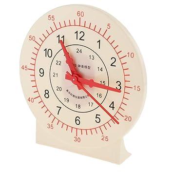 KESOTO Reloj con Manecillas en Movimiento de Articulación Juego para Aprendizaje de Horas Números Matemáticos: Amazon.es: Juguetes y juegos