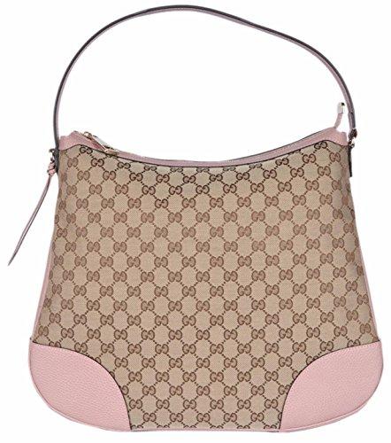 Gucci Women's Large Canvas Leather Bree Hobo Purse (Gucci Hobo Purse)