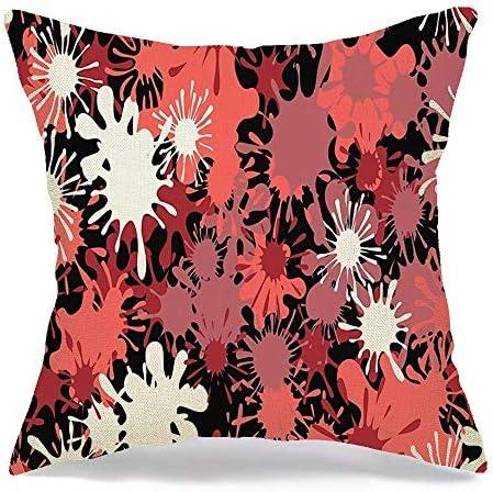 Funda de almohada de lino decorativa Manchas de colores con ...