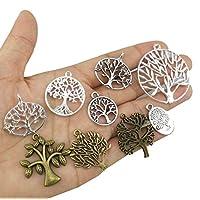yueton Pack of 45 Alloy Tree of Life Charms Pendent Joyas para hacer una pulsera y un collar