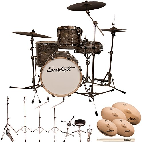 Series Value Marble (Sawtooth Command Series 4-Piece Drum Set with 18