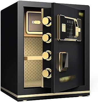 LJJL Caja fuerte Caja Fuerte, Huella Digital Y Contraseña/Llave Abierta Simultáneamente Con Sistema De Alarma Inteligente Doble Ingrese A La Pared O Al Gabinete 45 Cm cajas fuertes (Color : Black): Amazon.es: